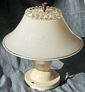 Vintage Child's Ceiling Light And Shade