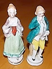 Occupied Japan Man Woman Figurines