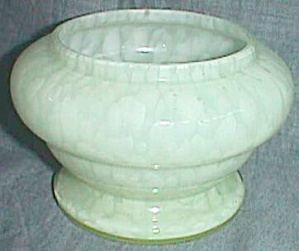 Antique Czechoslovakian Vaseline Powder Jar Bottom Only