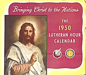 1950 Wall Calendar, The Lutheran Hour, 17th Broadcast Season