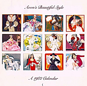 1982 Avon Beautiful Style Wall Calendar, Blackwell Illustrations