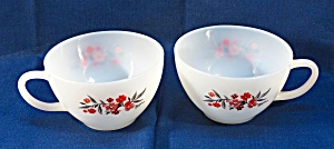 Fire-king Oven Ware Cups, Primrose Pattern