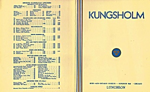 Kungsholm (Swedish Luncheon) 1940 Luncheon Menu, Chicago Il
