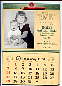 1951 Grocery Calendar, Baby Brother
