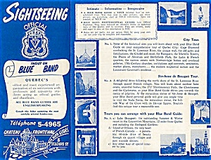 Quebec Blue Band Sightseeing Guide 1950s