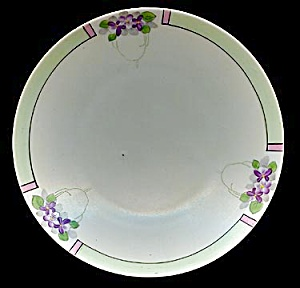 Pretty Hand Painted Meito Violets Plate