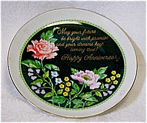 Gorgeous Floral Anniversary Plate