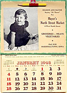 1948 Early Mayer's Market Ad Calendar