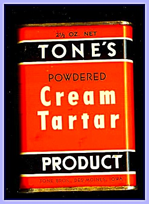 Tone's Spices Cream Tartar, Vintage Tin
