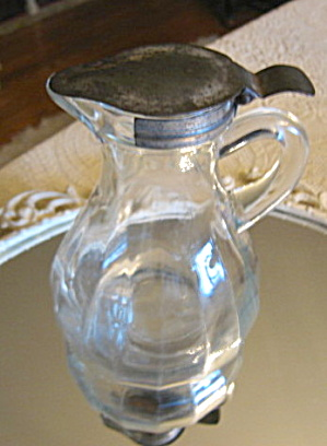 Glass Syrup Pitcher Antique