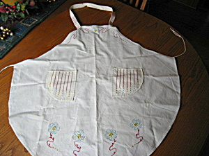 Vintage Embroidered Apron