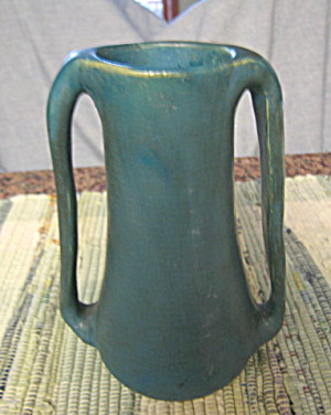 Antique Matte Blue Art Pottery