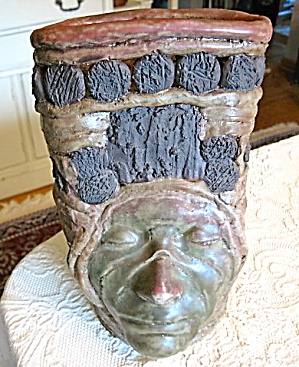 Art Pottery Face Vase
