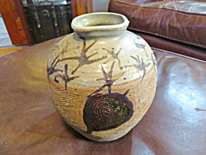 Signed Art Pottery Stoneware Vase