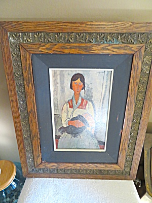 Antique Frame With Modigliana Print
