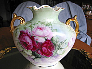 Austrian Antique Rose Vase