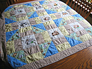 Hand Stitched Reversible Crib Quilt