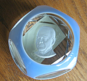 Baccarat Sulfide President Paperweight