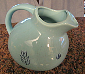 Vintage Ball Pitcher Blue Tulip