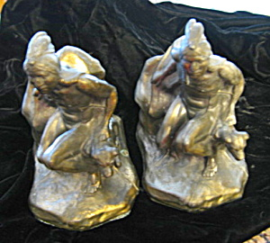 Native Hunter Antique Bookends
