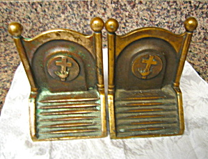 Knights Templar Antique Bookends