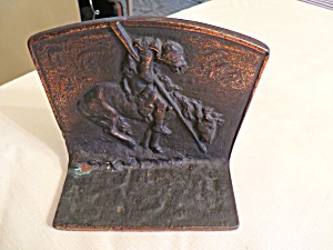 Antique End Of Trail Bookends