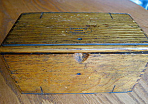 Antique Patented Sewing Tool Box