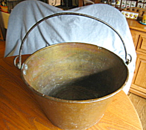 Patented Antique Large Brass Bucket