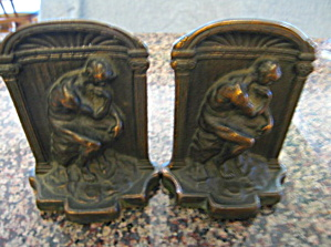 The Thinker Antique Bookends