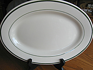 Buffalo China Green Stripe Platter