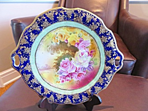 Hand Painted Vintage Cake Plate
