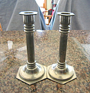 Royal Holland Pewter Candleholders