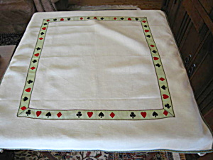 Linen Vintage Card Tablecloth
