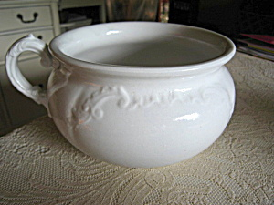 Large Antique Open Chamber Pot