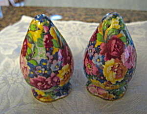 Vintage English Chintz Shakers