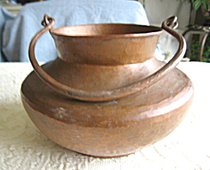 Vintage Hammered Copper Vessel
