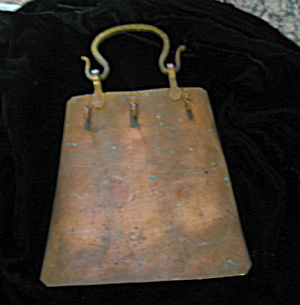 Vintage Copper Hook Rack