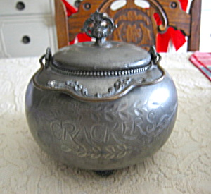 Victorian Silverplate Cracker Jar
