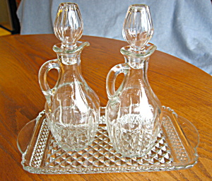 Cruet Bottles And Tray