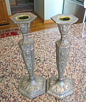 Vintage Dutch Silver Candlesticks