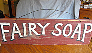 Vintage Fairy Soap Wooden Sign