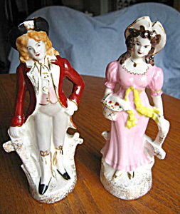 Vintage Porcelain Colonial Figurines