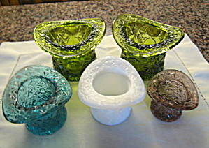 Vintage Glass Hat Vases