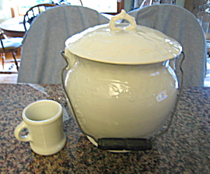 Antique Hall China Slop Jar And Mug