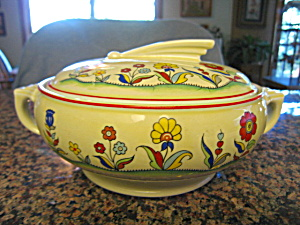 Hall China Casserole Meadow Flower