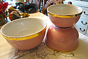 Hall China Retro Pink Bowls