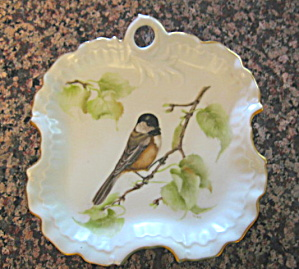 Hand Painted Porcelain Tray W/bird