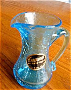 Kanawha Crackle Glass W/label