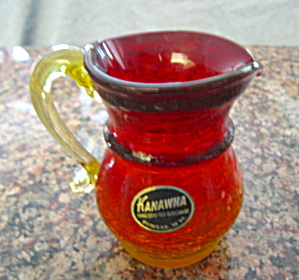 Kanawha Crackle Glass Pitcher