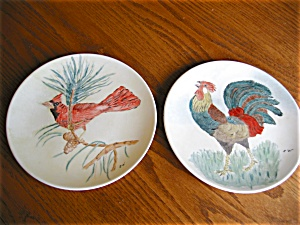 Two Edwin Knowles Display Plates